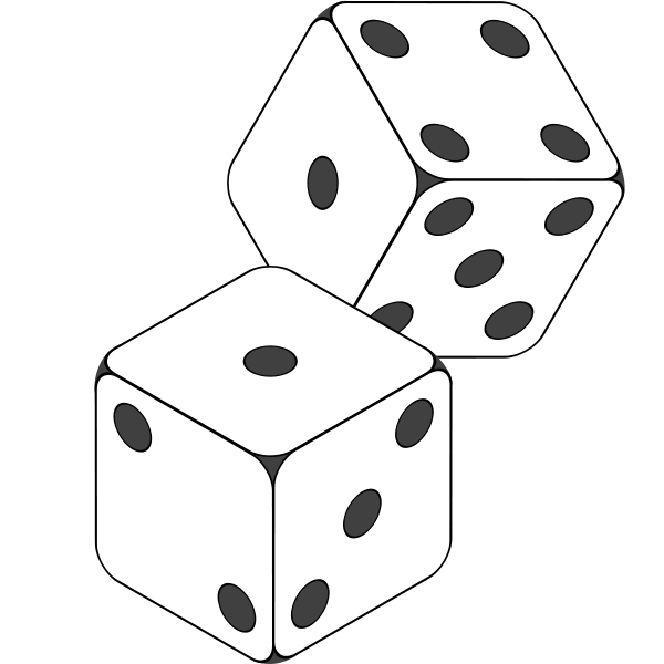 dice clipart two