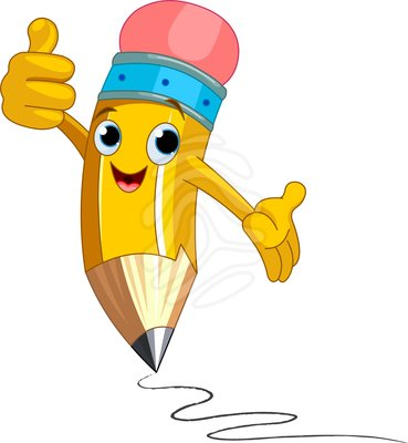 pencil clipart happy