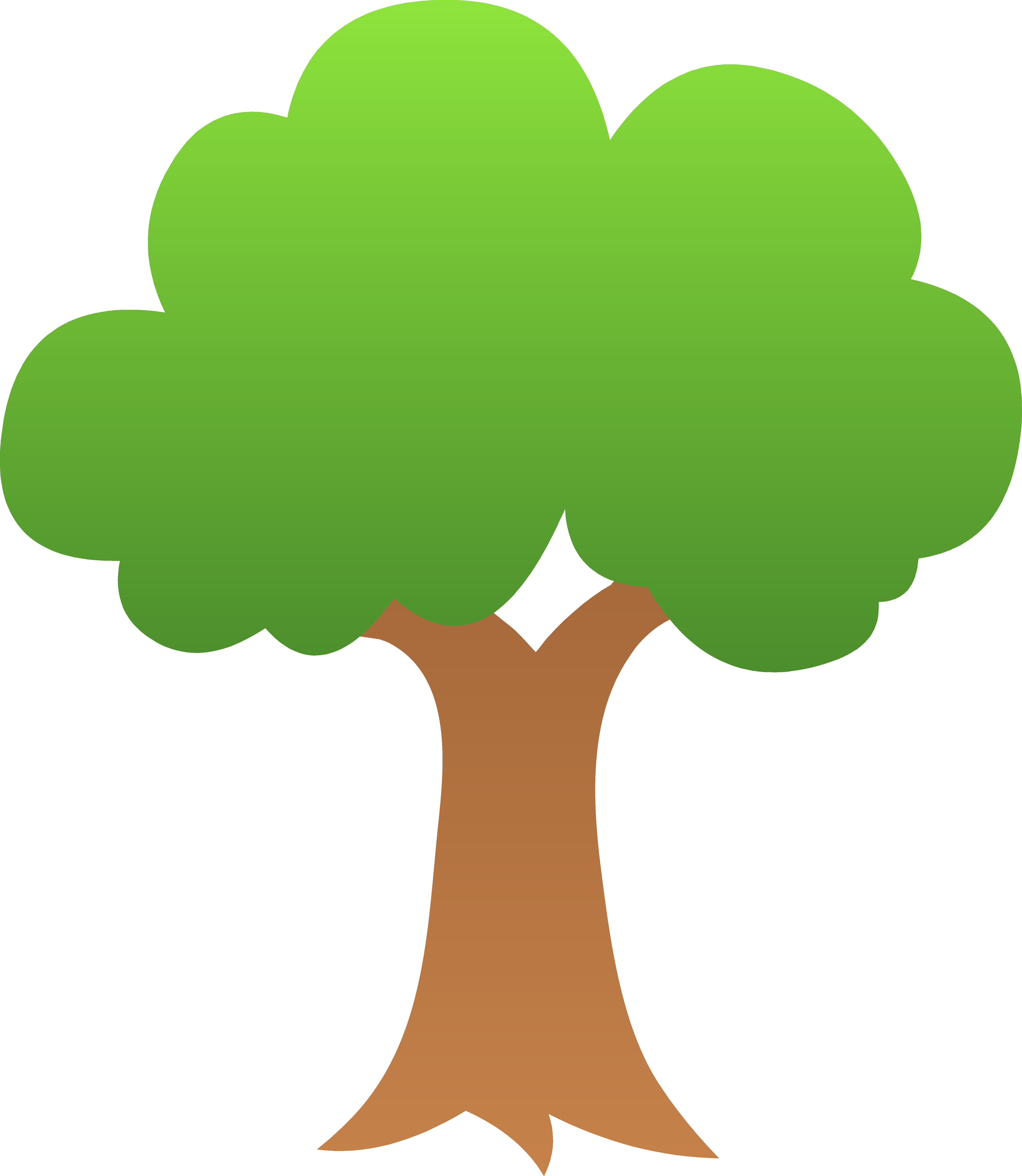 clipart trees vector