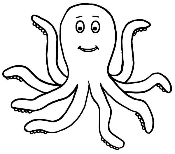 Clipart octopus white.