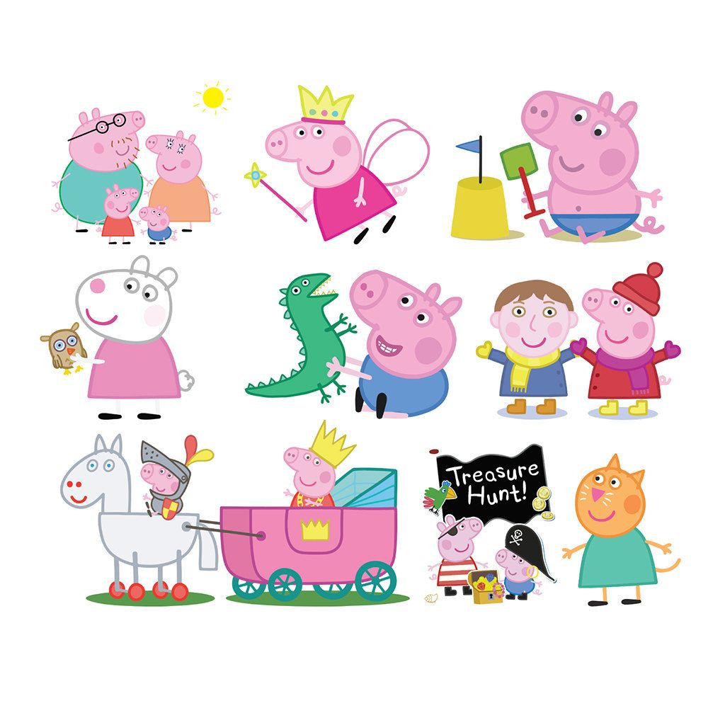 Family clipart peppa pig.