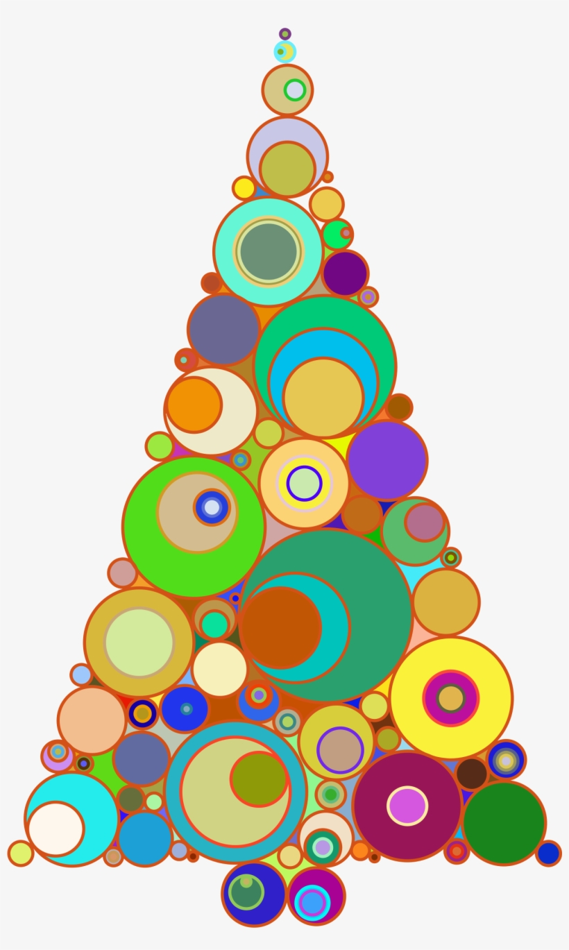 christmas tree clipart abstract