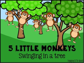 Clipart tree little monkeys.