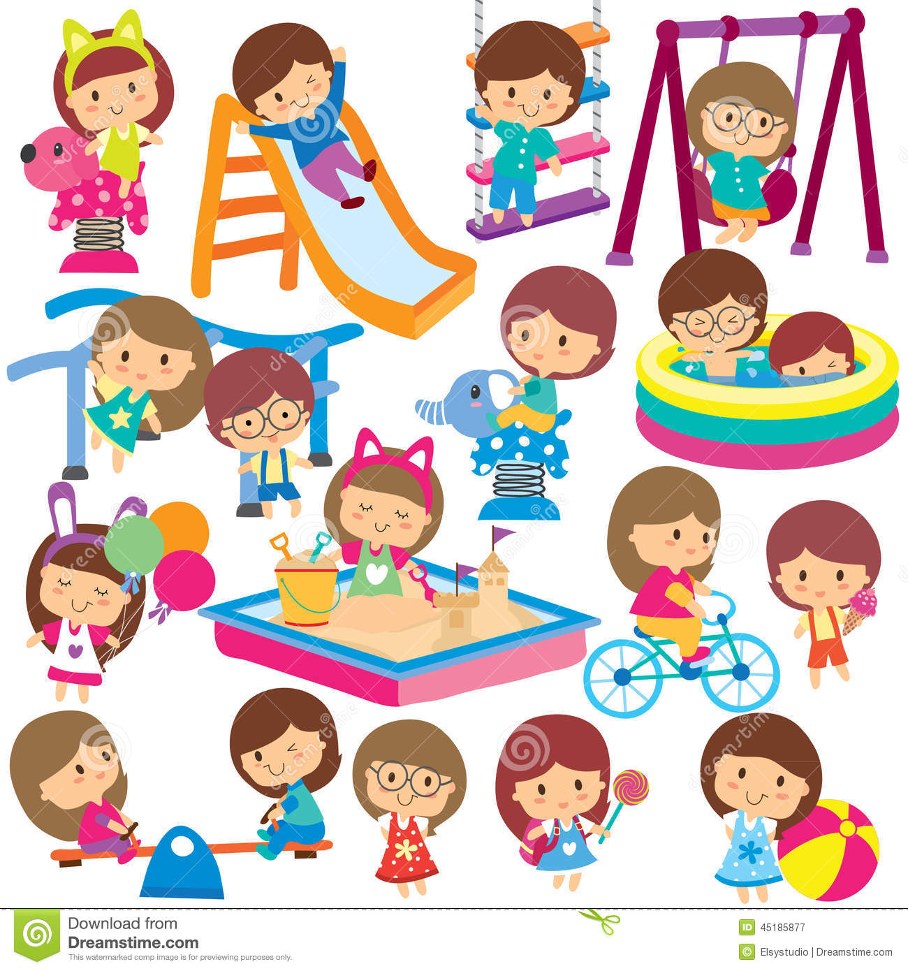activities clipart summer