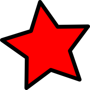 Cliparts star red.