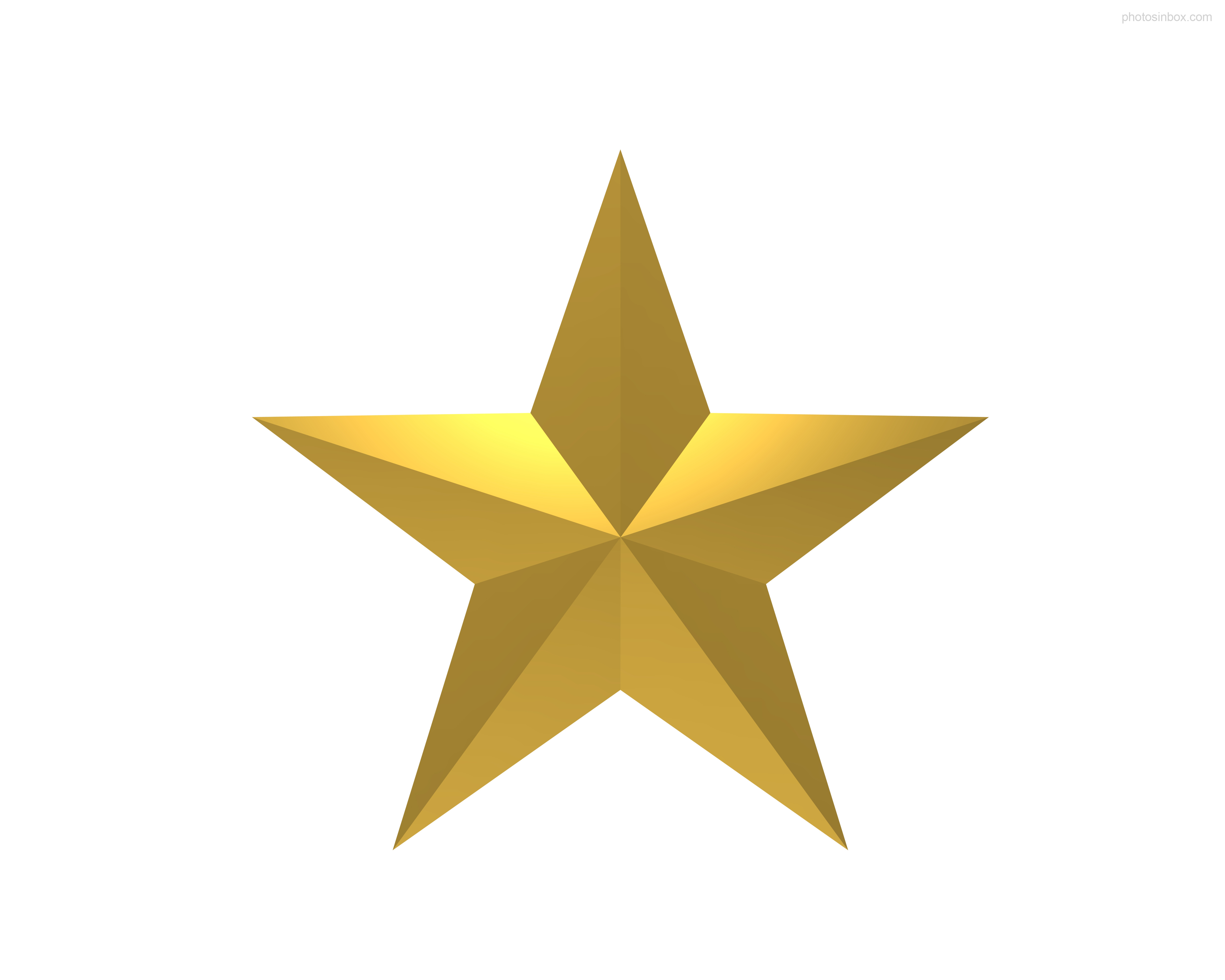 gold star clipart transparent background