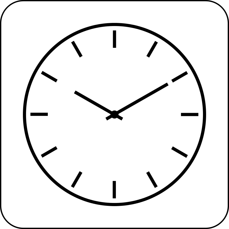 watch clipart simple