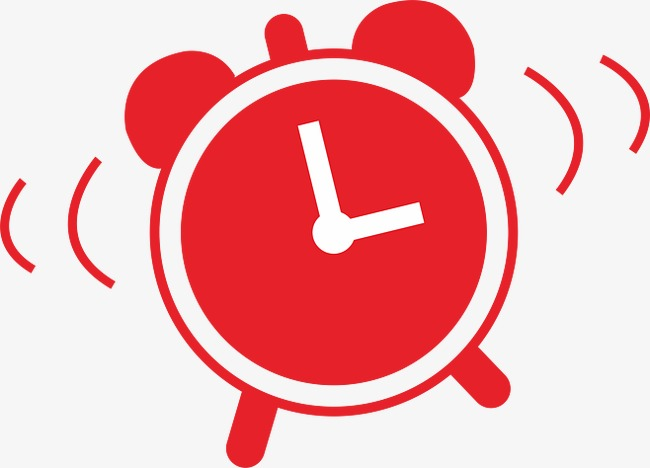 Clock clipart red.