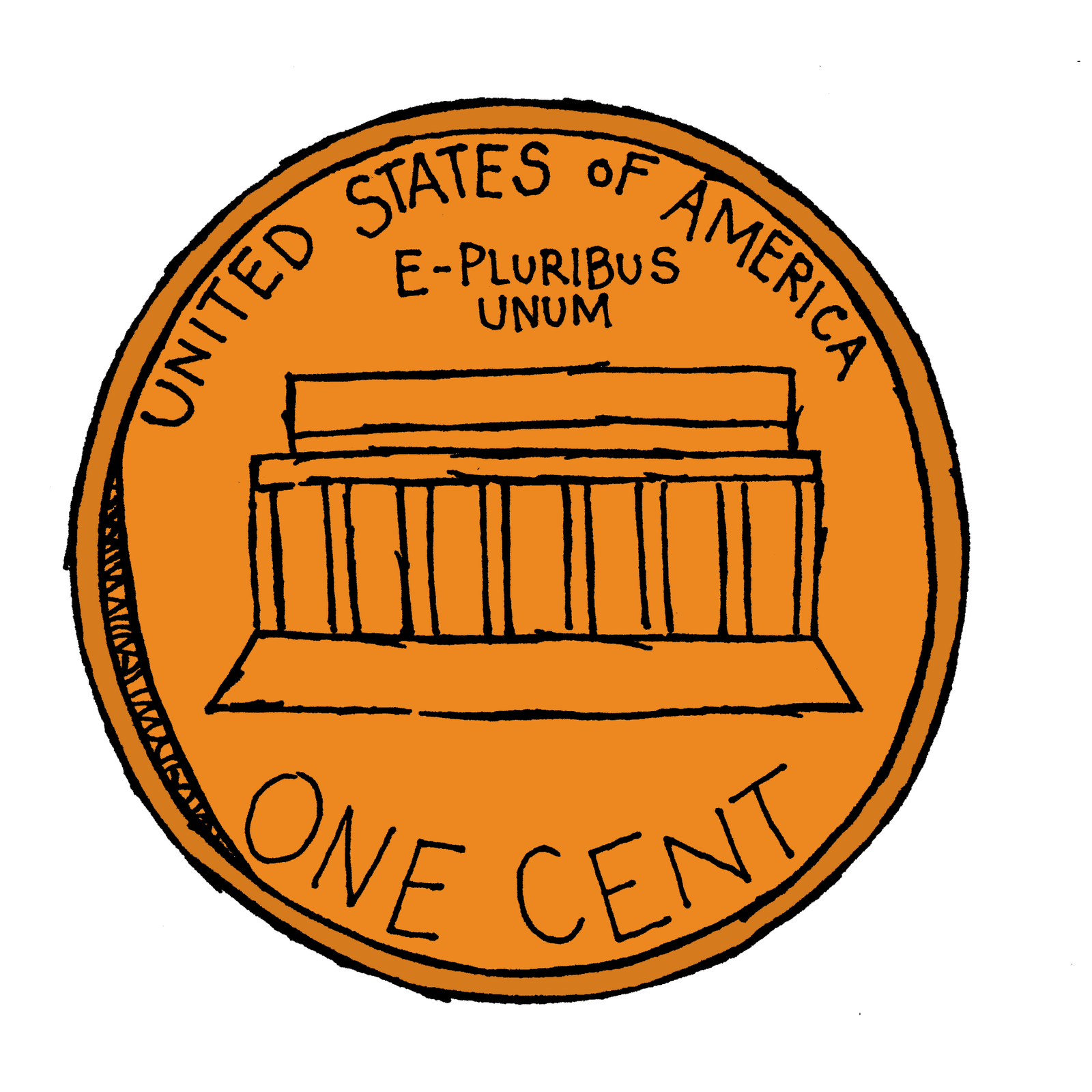 penny clipart back