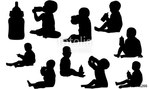 baby bottle clipart silhouette