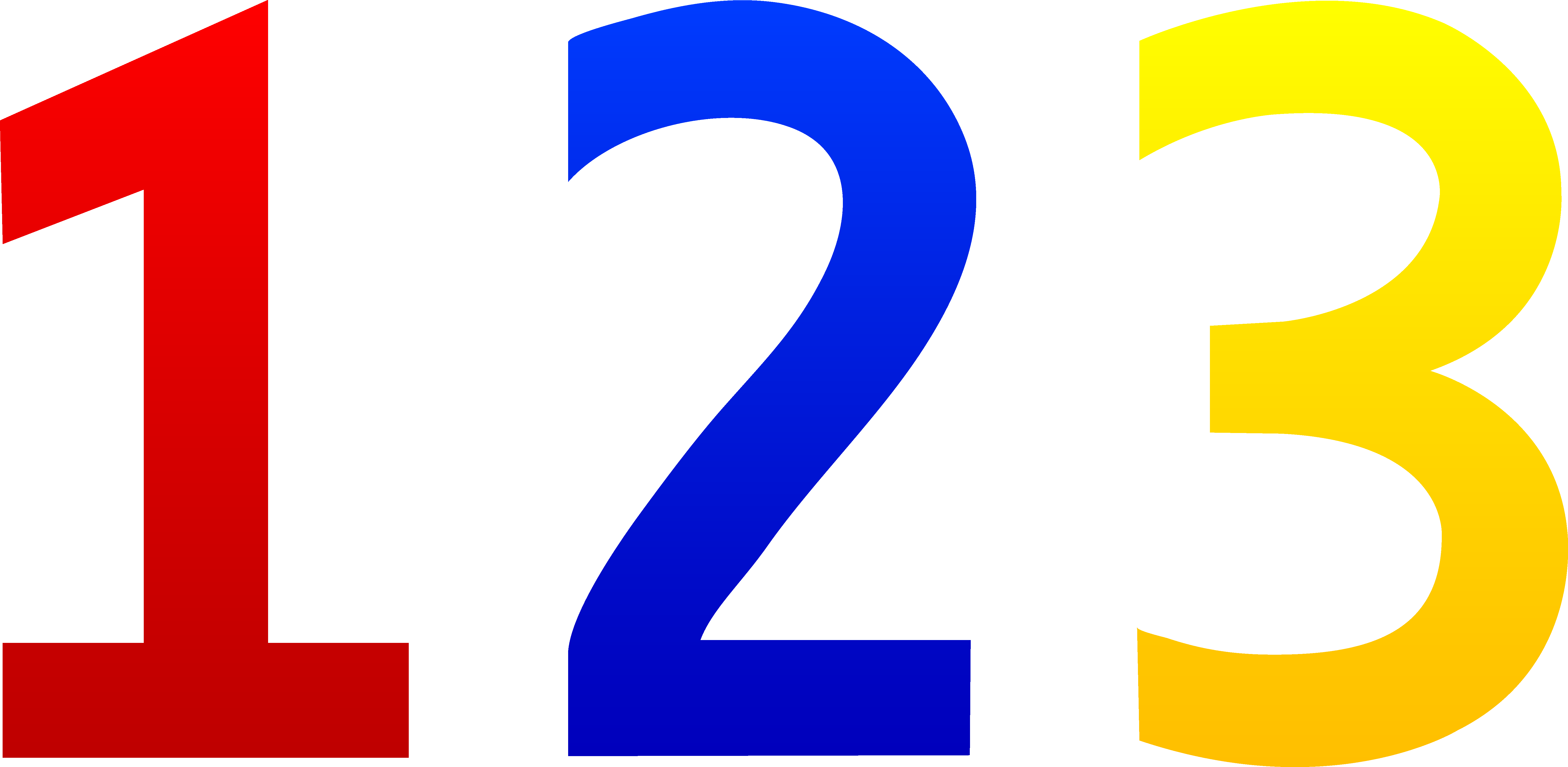 2 clipart single number.