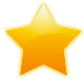 gold star clipart color