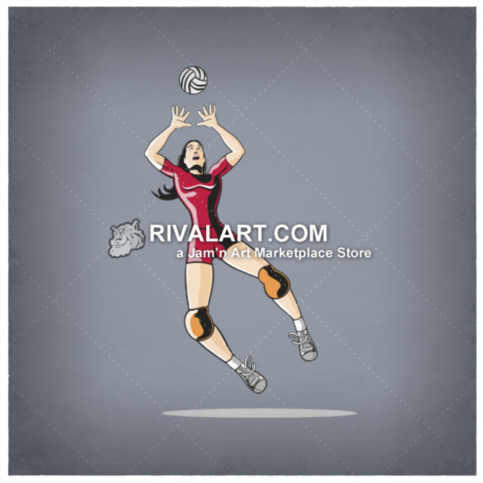 Colors clipart volleyball player.