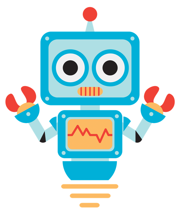 robot clipart colorful