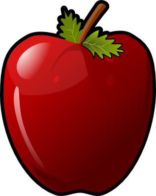 public domain clipart apple