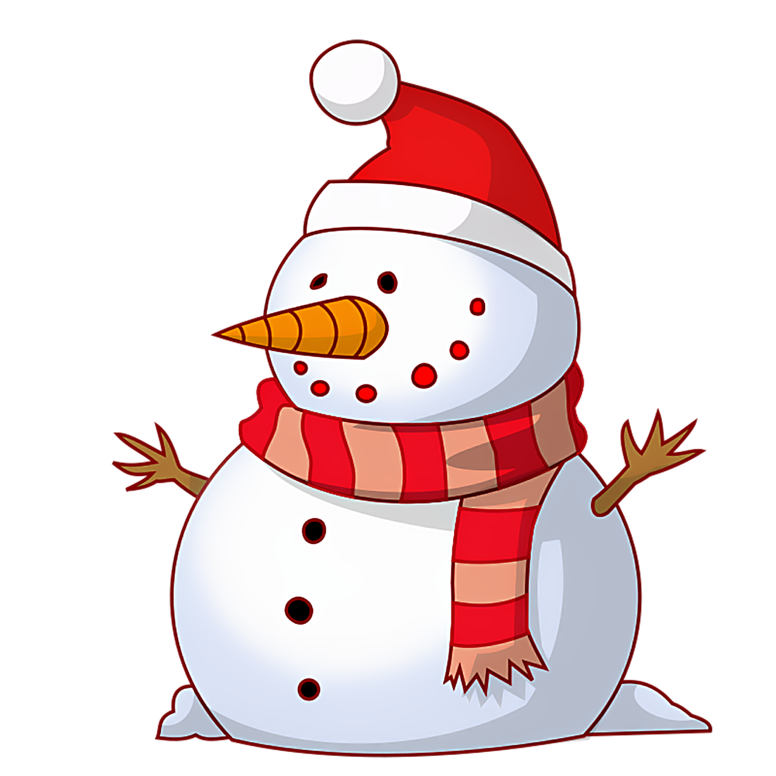 happy new year clipart free snowman