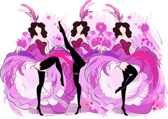 Comprised clipart cancan.