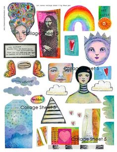 Comprised clipart collages.