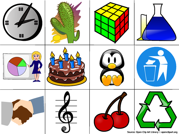 Comprised clipart examples.
