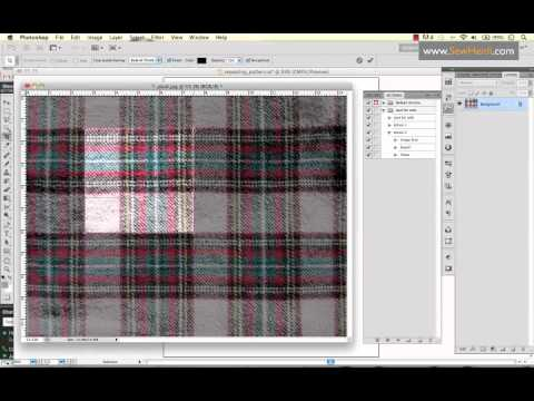 Comprised clipart fabric swatch.