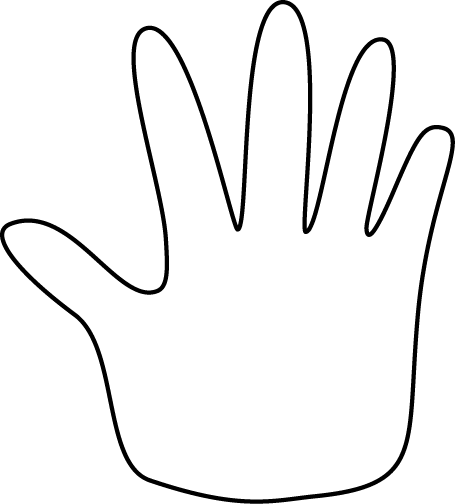 Comprised clipart hands.