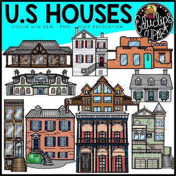 Comprised clipart house worksheet.