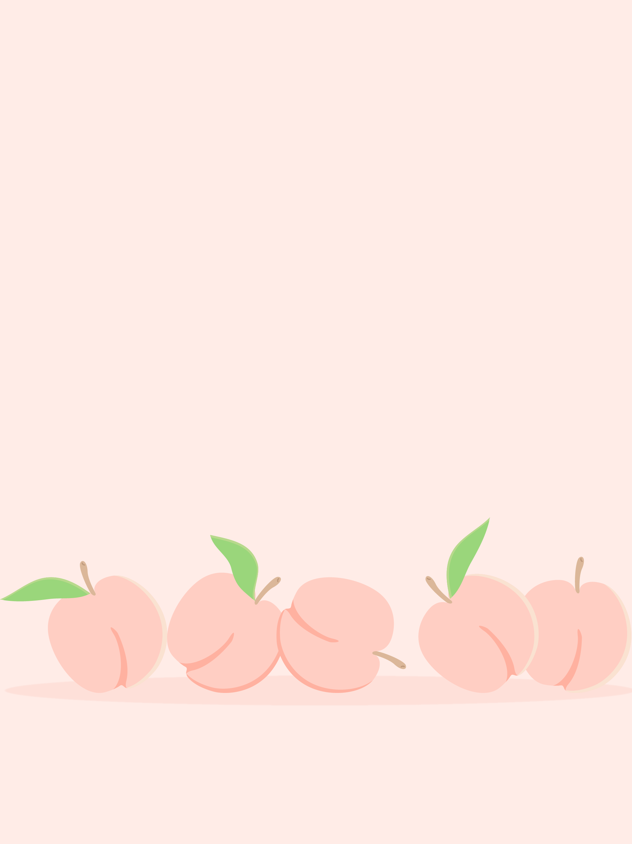 Comprised clipart peaches.