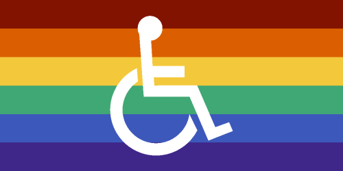 Comprised clipart rainbow flag.