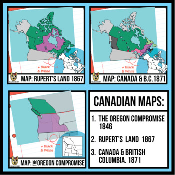 Comprised clipart maps.