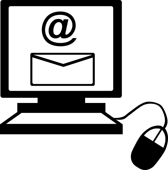 email clipart black