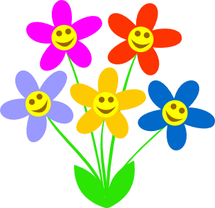 spring flower clipart single