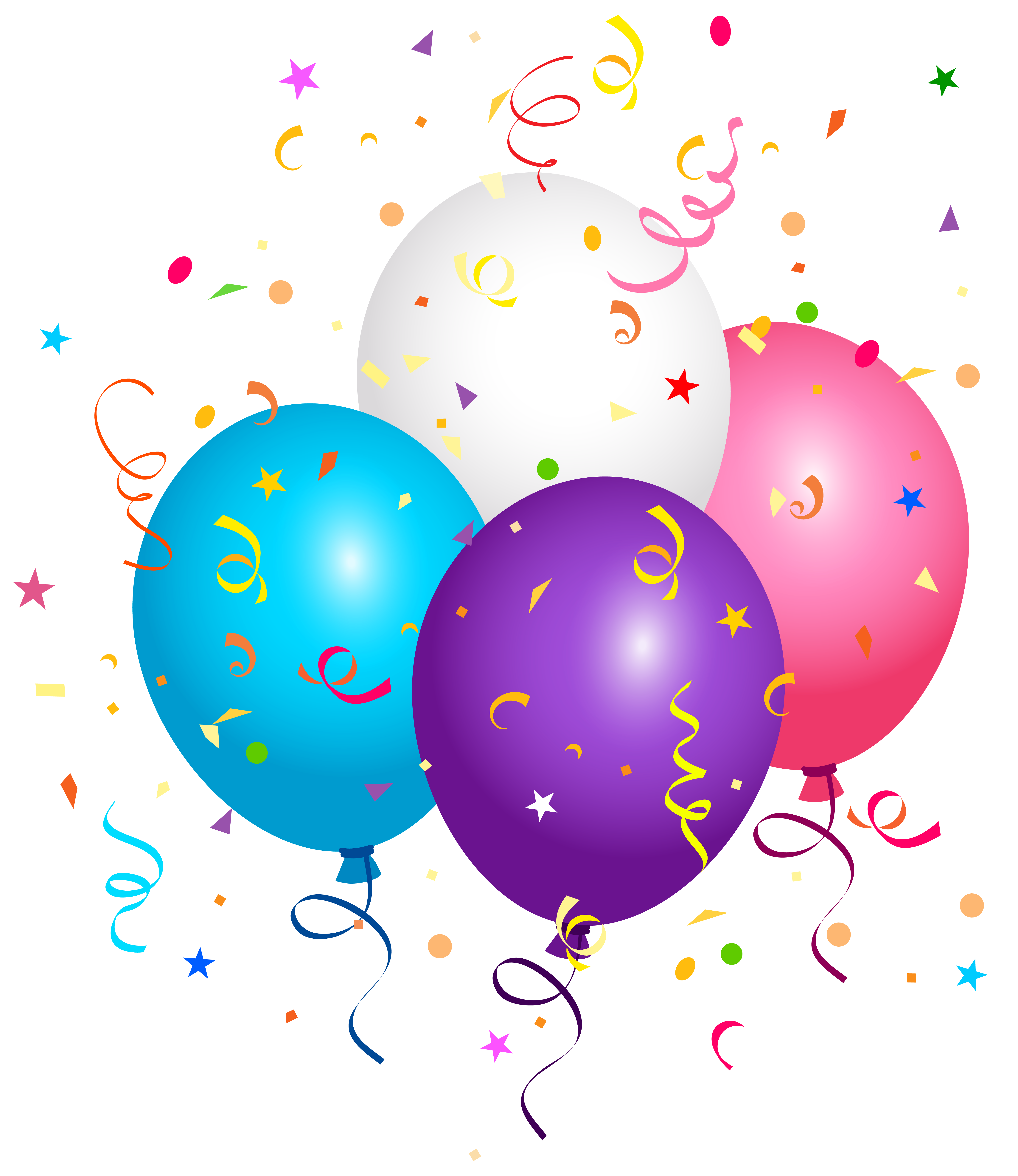 Confetti clipart balloons png.