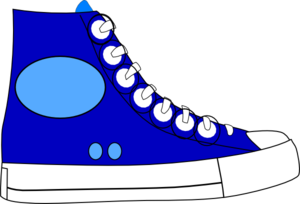 clipart shoes blue