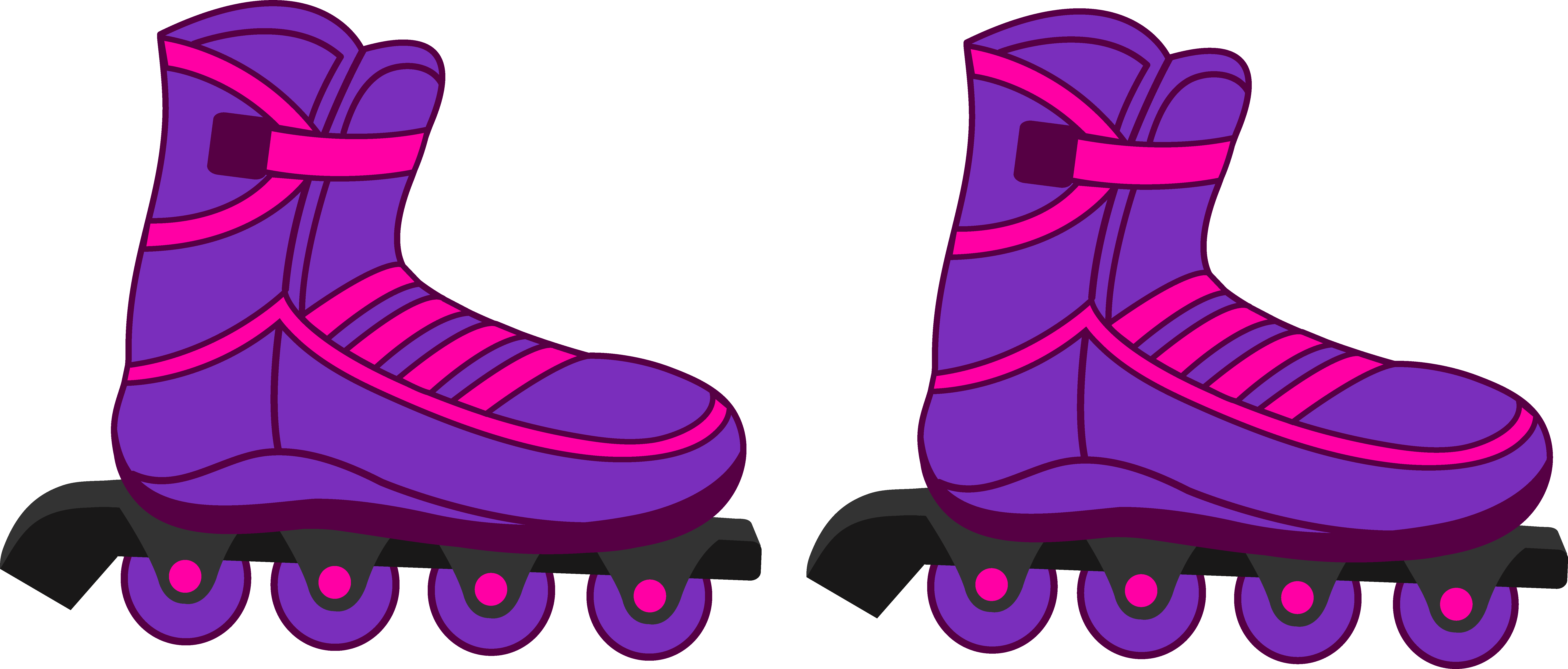 rollerblading clipart couple