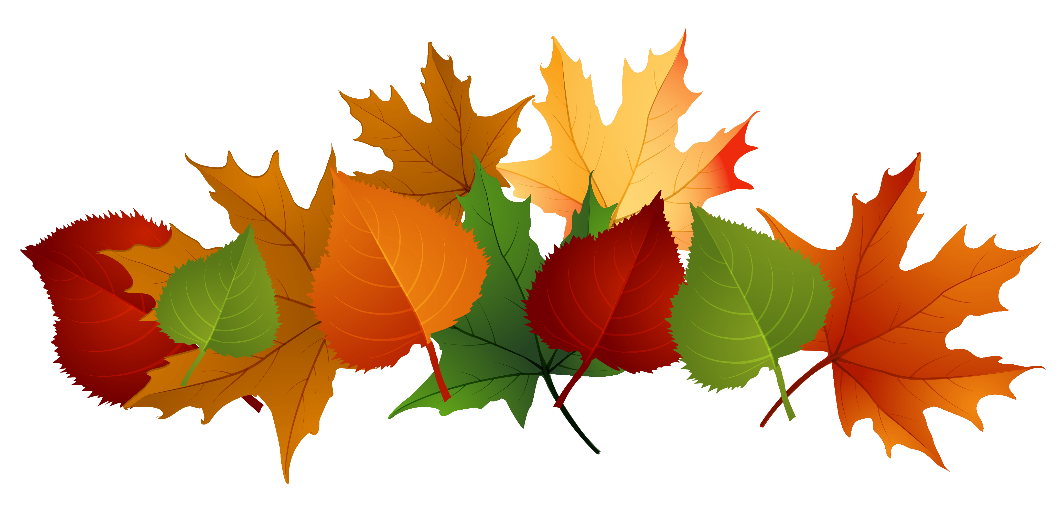 fall leaves clipart garland