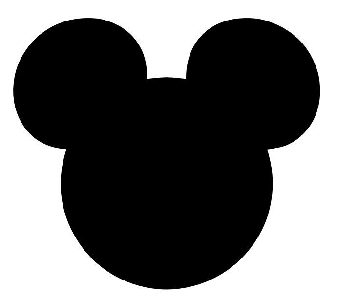 mickey mouse head clipart outline