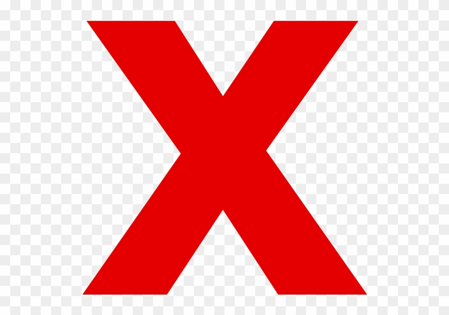 x clipart red
