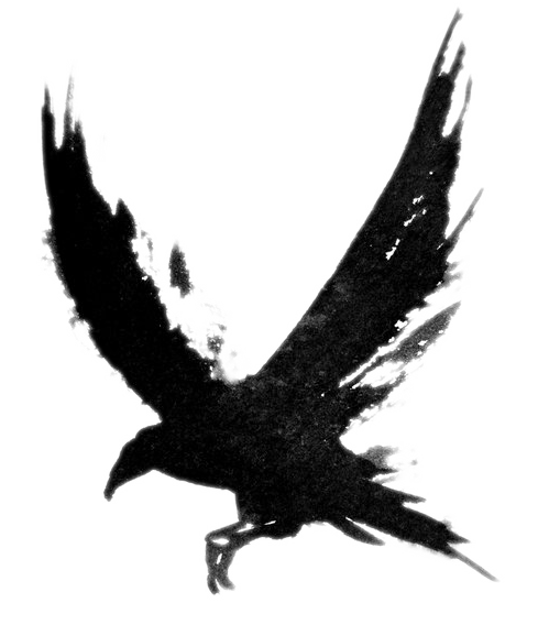 raven clipart drawing
