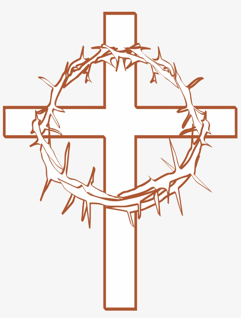 crown of thorns clipart cross