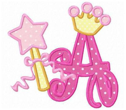 letter a clipart pink