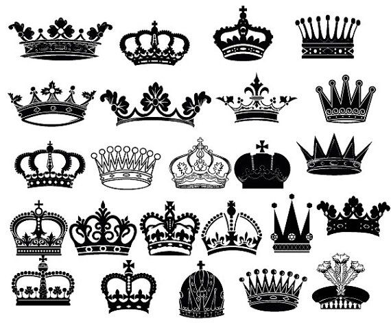 queen crown clipart silhouette