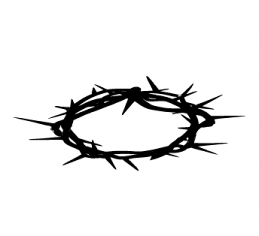 crown of thorns clipart jesus