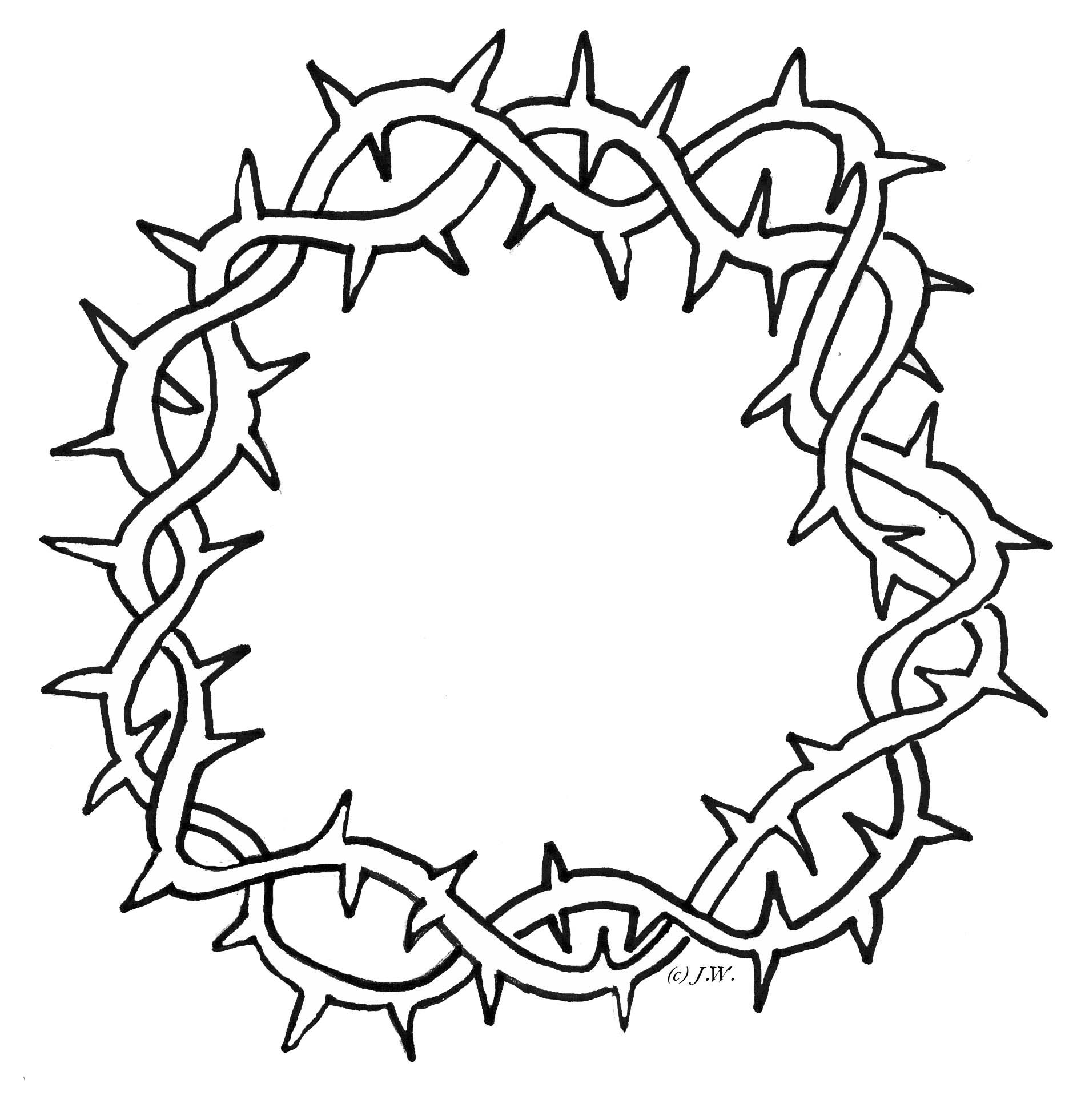 crown of thorns clipart nails