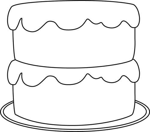 birthday cake clipart black and white transparent background