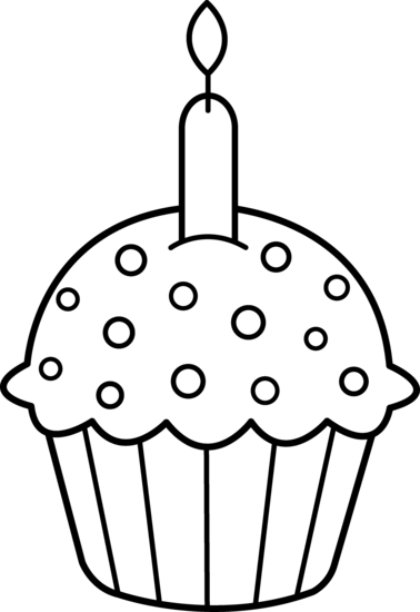 birthday cake clipart black and white silhouette