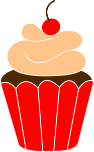 Cupcake clipart orange.