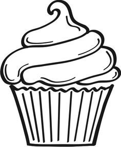 birthday cake clipart black and white printable