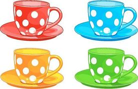 Cups clipart many object.