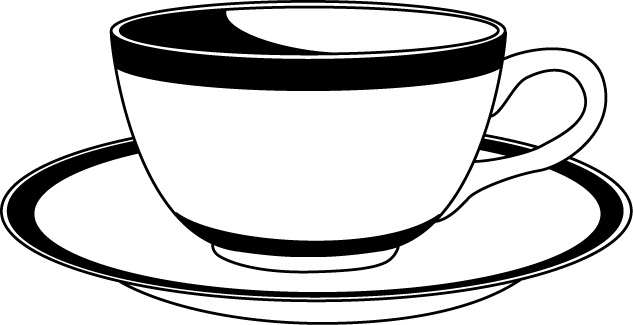 Dish clipart cup plate.