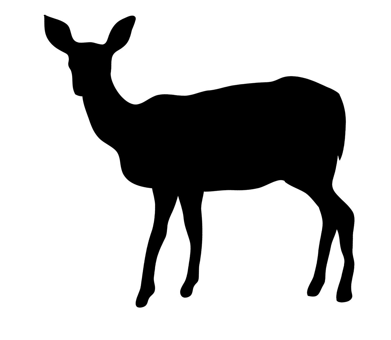 Silloutte clipart animal.